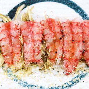 hisyou ristorante di sushi take away consegna a domicilio - antipasto amaebi speciale