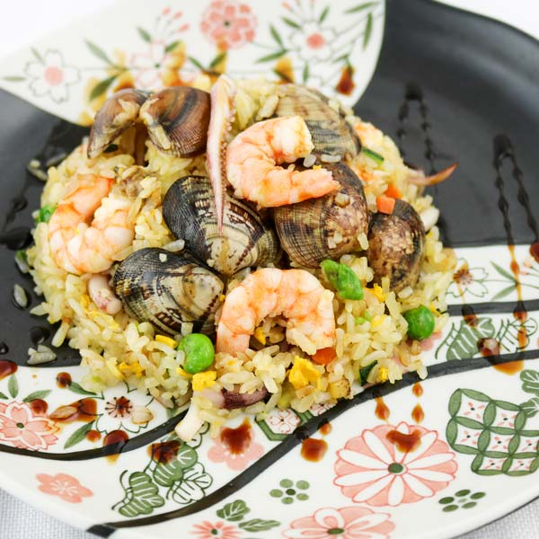 hisyou ristorante di sushi take away consegna a domicilio - primi riso alla piastra con frutti di mare