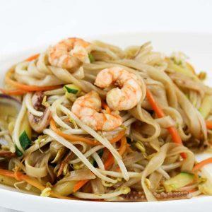 hisyou ristorante di sushi take away consegna a domicilio - primi spaghetti di riso con misto mare