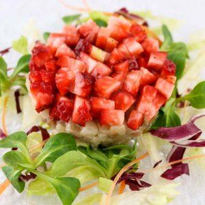 hisyou ristorante di sushi take away consegna a domicilio - sashimi tartare di branzino