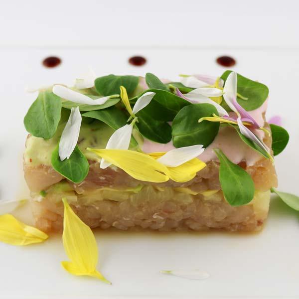 hisyou ristorante di sushi take away consegna a domicilio - sashimi tartare di ricciola